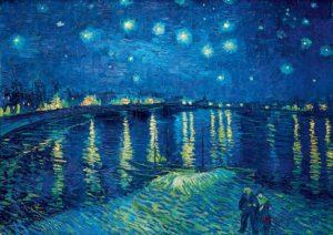 Sternennacht über der Rhone